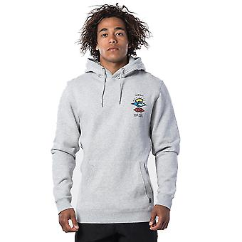 Rip Curl Search Icon Pullover Hoody in Cement Marle