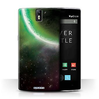 STUFF4 Case/Cover for OnePlus One/Green Eclipse/Space/Cosmos