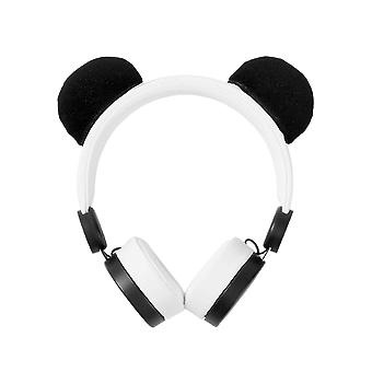On-Ear Headphones with Removable Ears - Panda
