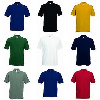 Fruit Of The Loom Mens 65/35 Heavyweight Pique Short Sleeve Polo Shirt