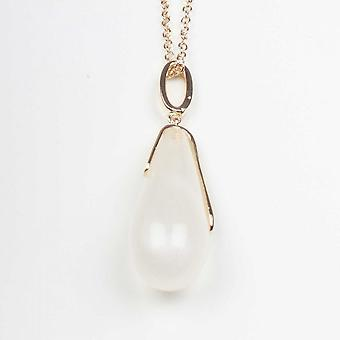 Nour London Elongated Teardrop Pendant Necklace