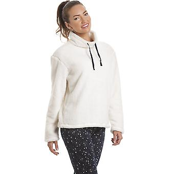 Camille Womens crème Fleece Top met Marine Star Print legging