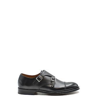 Doucal's Ezbc089038 Men's Black Leather Monk Strap Shoes