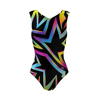 Rainbows Nights Girls Leotards With Black Shorts, Gymnastics Bodysuit Ballet Dancewear,  3-16 Years