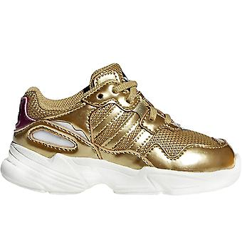 adidas Originals Girls Kinder Yung-96 Metallic Trainer Sneakers Schuhe - Gold