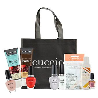 Cuccio Essential Manicure At Home Kit - Pomegranate & Fig - 9 Piece Starter Kit