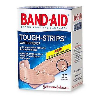 Band-aid tough-strips waterproof bandages, assorted sizes, 20 ea
