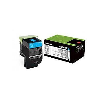 Lexmark 808Hce Cyan High Yield Corporate Toner Cartridge 3K