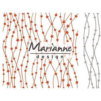 Marianne Design Embossing map Celestial sterren DF3439 15,2x15,4cm