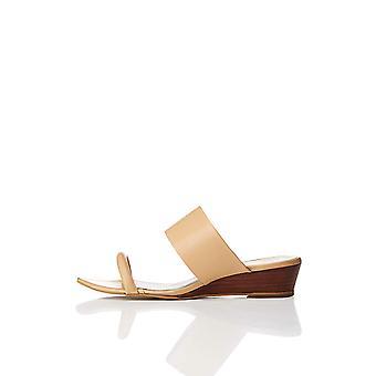 Amazon Brand - find. Women's Wide Band Mule Sandal