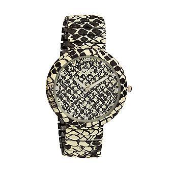 Eton Womens Fashion Watch, Snake Print Expanding Bracelet - 3117J-PY
