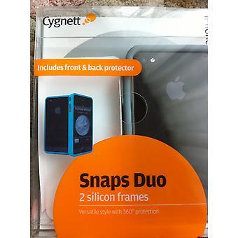 Cygnett Snaps Duo, zwart en blauw voor iPhone 4