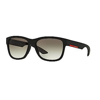 Prada Sport Linea Rossa SPS03Q DG0/0A7 Black Rubber/Grey Sunglasses