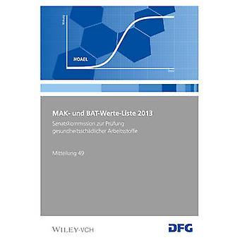 MAK- und BAT-Werte-Liste - Maximale Arbeitsplatzkonzentrationen und Bi