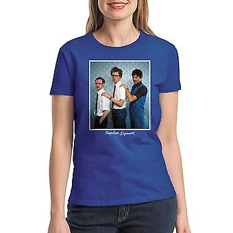 Napoleon Dynamite Family Photo Women's Royal Blue Funny T-shirt