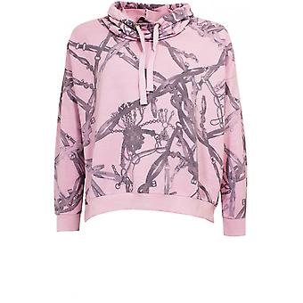 A Postcard from Brighton Boxy Pink Patterned Sweatshirt