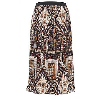 b.young Bold Print Pleated Skirt