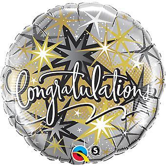 Qualatex 18 Inch Round Congratulations Elegant Foil Balloon