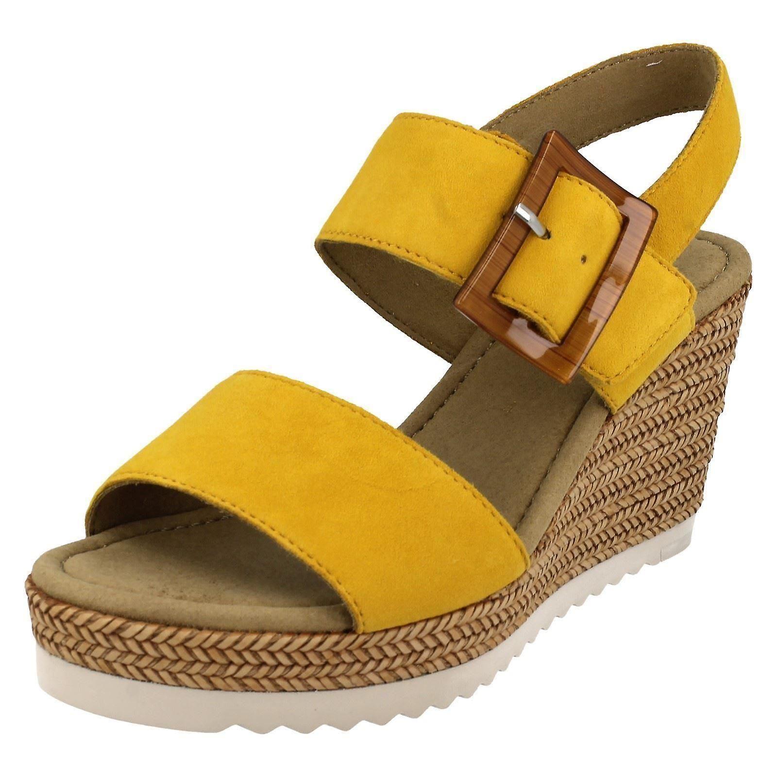 Ladies Gabor Slingback Platform Wedge Sandals 45795 mrDRN