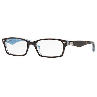 Ray-Ban RB5206 5023 Top Havana On Transparent Azure Glasses