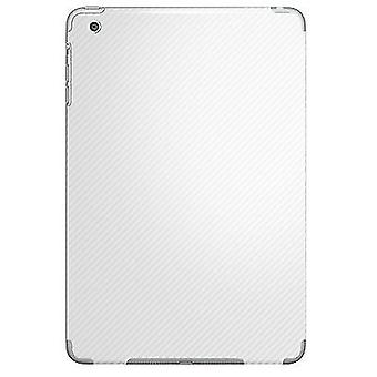 Carbon Fibre Vinyl Back Sticker Wrap for iPad Mini 2 & 1[White]