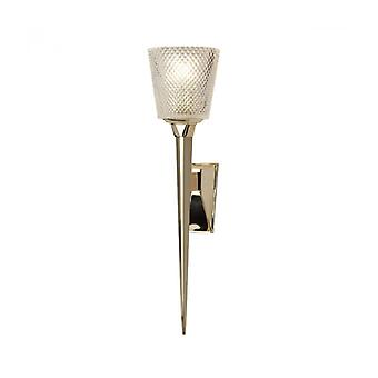 Verity Bathroom Sconce Polished Gold Finish, Glass