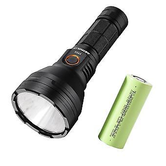 Usb-c uppladdningsbar ficklampa + 26650 5000mah strömbatteri