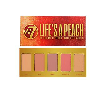 W7 Cosmetics Cheek and Face Palette Life's a Peach - 5 Shades of Blush