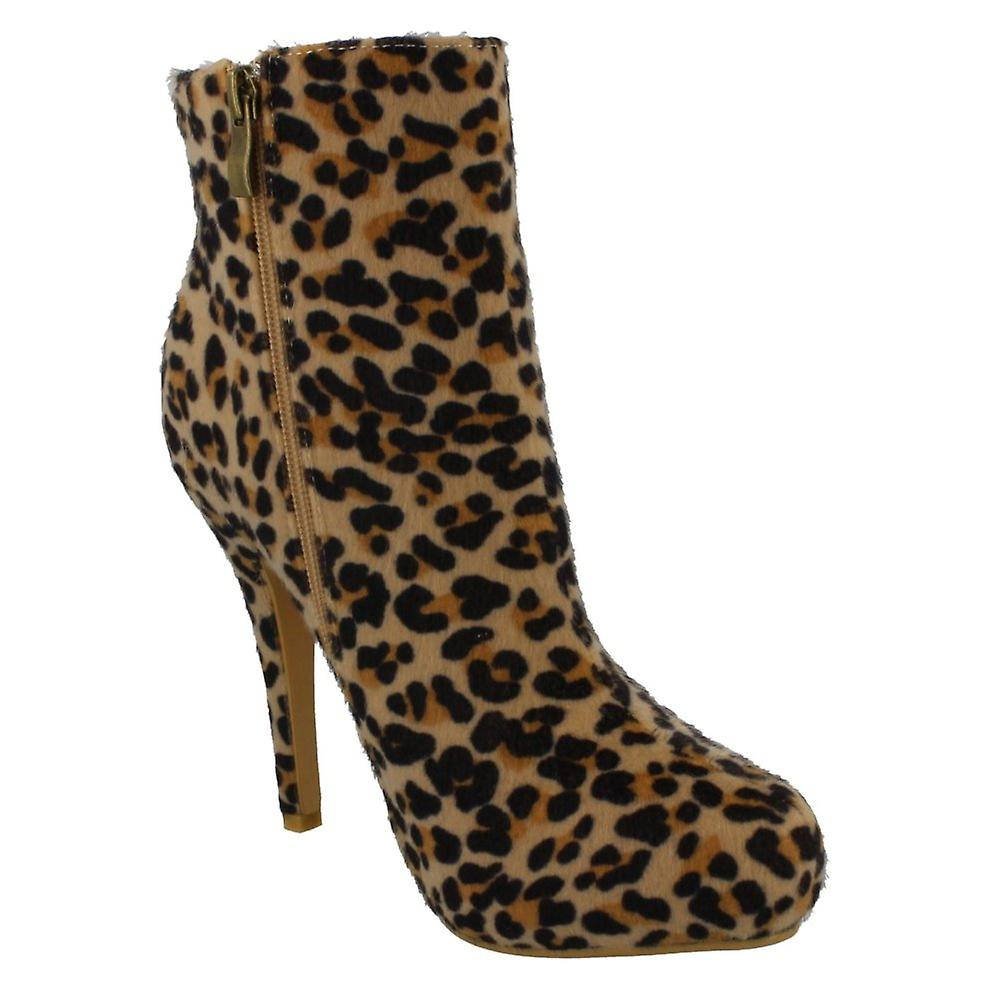 Spot On Womens/Ladies Platform Ankle Boot X1Tpo