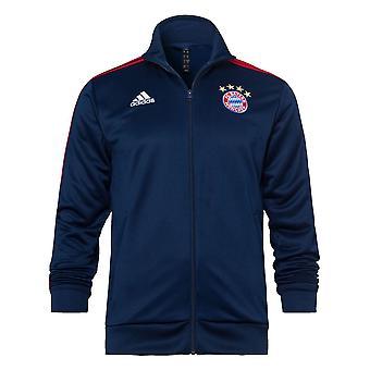 2020-2021 Bayern München Adidas 3S Track Top (Navy)