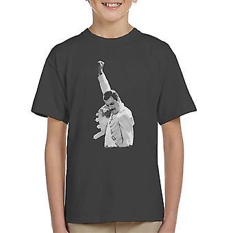 Freddie Mercury Of Queen Live In Newcastle 1986 Kid's T-Shirt