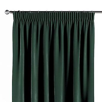 Vorhang mit Kräuselband, dunkelgrün, 130 × 260 cm, Velvet, 704-25