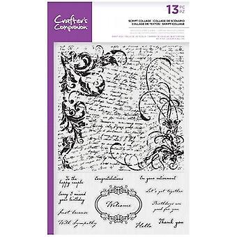 Crafter's Begleiter Skript Collage Hintergrund klare Briefmarken