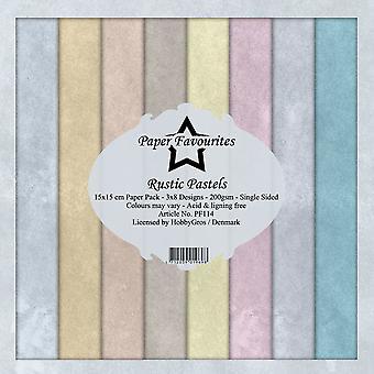 Dixi Craft Rustic Pastels 6x6 Inch Paper Pack