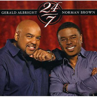 Gerald Albright & Norman Brown - 24/7 [CD] USA import
