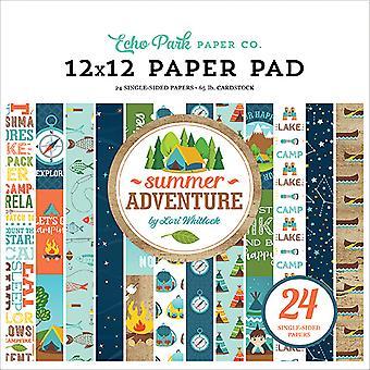 Echo Park Summer Adventure 12x12 Inch Paper Pad