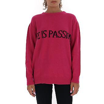 Alberta Ferretti 09676603j1210 Damen's Fuchsia Cashmere Pullover