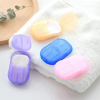 Jednorázové ruční mytí tablet travel carry toaletní mýdlový papír venkovní služební cesta cestování na jedno použití