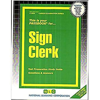 Commis de signe : Guide d'étude de passbooks