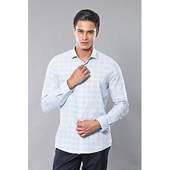 Geruit lichtblauw shirt | wessi wessi