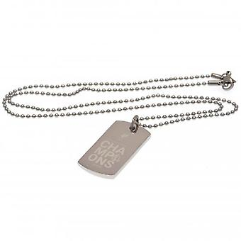Liverpool Premier League Champions Gegraveerd Dog Tag