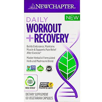 New Chapter, Daily Workout + Recovery, 60 Vegetarian Capsules