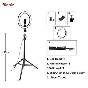 26cm/10inch Led Selfie Ring Light Dimmable Led Ring Lamp Photo Video Camera Phone For Live Youtube