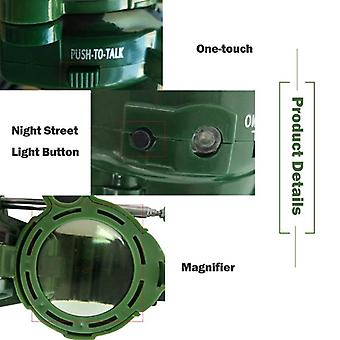 Kids Military Simulation Watch Intercom Electronic Walkie- Talkie Jouet