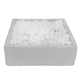 Square ball pit 90x90 cm with 450 balls white
