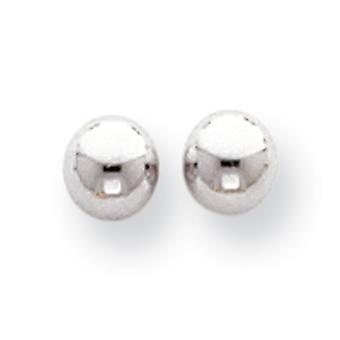 14k White Gold Hollow Polished 5mm Ball Post Earrings Measures 5x5mm Jewelry Gifts for Women