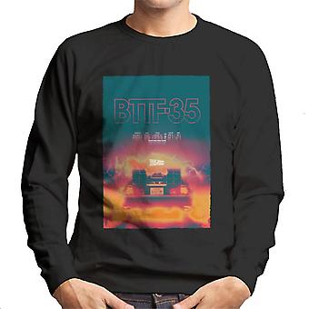 Back to the Future Delorean 35 Electric Flames Men's Sweatshirt