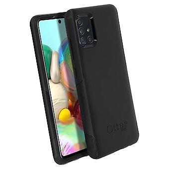 Back cover for Samsung Galaxy A71 Rigid Beveled Edges Commuter OtterBox - Black