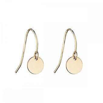 Beginnings Sterling Silver 9CT Yellow Gold Disc Drop Earrings GE2211