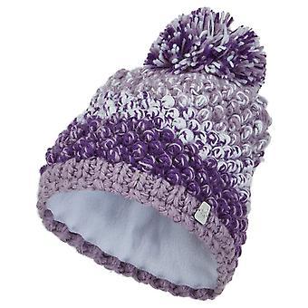 Spyder BERRY Girl Knit Bommel Winter Ski Hat Purple